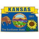 Eagle Emblems P09217 Pin-Kansas (Map) (1