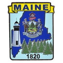 Eagle Emblems P09220 Pin-Maine (Map) (1