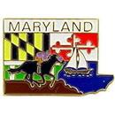 Eagle Emblems P09221 Pin-Maryland (Map) (1