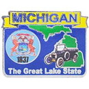 Eagle Emblems P09223 Pin-Michigan (Map) (1
