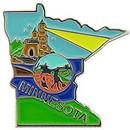 Eagle Emblems P09224 Pin-Minnesota (Map) (1