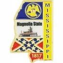 Eagle Emblems P09225 Pin-Mississippi (Map) (1