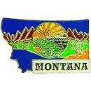Eagle Emblems P09227 Pin-Montana (Map) (1