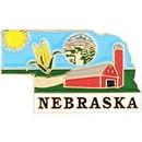 Eagle Emblems P09228 Pin-Nebraska (Map) (1