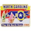 Eagle Emblems P09234 Pin-North Carolina (Map) (1