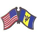Eagle Emblems P09710 Pin-Usa/Barbados (Cross Flags) (1-1/8