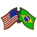 Eagle Emblems P09714 Pin-Usa/Brazil (Cross Flags) (1-1/8