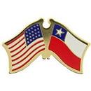 Eagle Emblems P09717 Pin-Usa/Chile (Cross Flags) (1-1/8