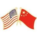 Eagle Emblems P09718 Pin-Usa/China (Cross Flags) (1-1/8