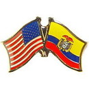 Eagle Emblems P09728 Pin-Usa/Ecuador (Cross Flags) (1-1/8