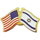 Eagle Emblems P09754 Pin-Usa/Israel (Cross Flags) (1-1/8