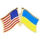 Eagle Emblems P09811 Pin-Usa/Ukraine (Cross Flags) (1-1/8