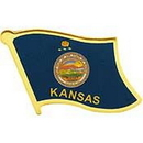 Eagle Emblems P09917 Pin-Kansas (Flag) (1