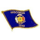 Eagle Emblems P09950 Pin-Wisconsin (Flag) (1