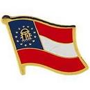 Eagle Emblems P09961 Pin-Georgia, Present (Flag) (1