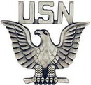 Eagle Emblems P10156 Pin-Usn, Enlisted, Pwt (1-1/4