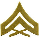 Eagle Emblems P10224 Rank-Usmc, E4, Corporal (Gld) (1