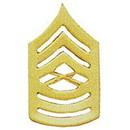 Eagle Emblems P10229 Rank-Usmc, E8, Master Sgt (Gld) (1-1/2