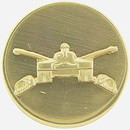 Eagle Emblems P10402 Pin-Army, Enl, Armor (Gld) (1-1/16