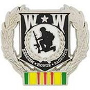 Eagle Emblems P12211 Pin-Wounded Warrior Wreath, Vietnam (1-1/8