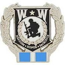 Eagle Emblems P12212 Pin-Wounded Warrior Wreath, Korea (1-1/8