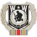 Eagle Emblems P12213 Pin-Wounded Warrior Wreath, Wwii (1-1/8