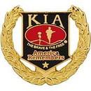 Eagle Emblems P12216 Pin-Kia, Honor Wreath (1-1/8