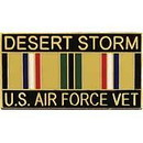 Eagle Emblems P12261 Pin-Dest.Storm, Usaf, Vet. (1-1/8