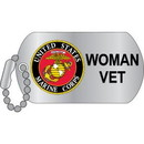 Eagle Emblems P12315 Pin-Usmc, Woman Veteran Dog Tag (1-1/4