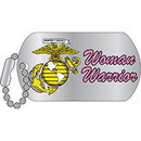 Eagle Emblems P12329 Pin-Usmc, Woman Warrior Dog Tag (1-1/4