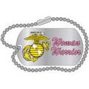 Eagle Emblems P12329 Pin-Usmc, Woman Warrior Dog Tag (1-1/4