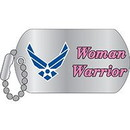 Eagle Emblems P12333 Pin-Usaf, Woman Warrior