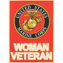 Eagle Emblems P12335 Pin-Usmc, Woman Veteran (1-1/4