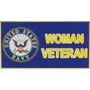 Eagle Emblems P12337 Pin-Usn, Woman Veteran (1-1/4