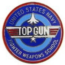 Eagle Emblems P12339 Pin-Usn, Top Gun, Fighter Weapons School (1
