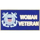 Eagle Emblems P12340 Pin-Uscg, Woman Veteran (1-1/4