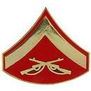 Eagle Emblems P12418 Rank-Usmc, E3, Lance Corp (Clr) (3/4