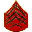 Eagle Emblems P12420 Rank-Usmc, E5, Sgt (Clr) (3/4