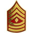 Eagle Emblems P12424 Rank-Usmc, E8, 1St Sgt (Clr) (3/4