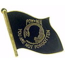 Eagle Emblems P12658 Pin-Pow*Mia, Flag, Blk (7/8
