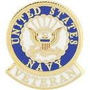 Eagle Emblems P12671 Pin-Usn Logo, Veteran (1