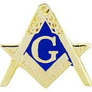 Eagle Emblems P13000 Pin-Org, Masonic Cutout, Sm (1/2