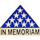Eagle Emblems P13106 Pin-Memorial Flag (1
