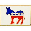 Eagle Emblems P13110 Pin-Party, Democrat (1