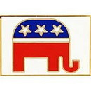 Eagle Emblems P13111 Pin-Party, Republican (1