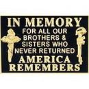 Eagle Emblems P13114 Pin-Memorial, Flag, In Mem. (1