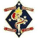 Eagle Emblems P14196 Pin-Usmc, 001St Bn 4Th Mar Whatever It Takes (1