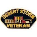 Eagle Emblems P14239 Pin-Dest.Storm, Veteran (Kuwait) (1-1/4