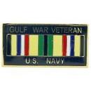 Eagle Emblems P14246 Pin-Gulf War, Usn, Vet. (1