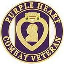 Eagle Emblems P14682 Pin-Purple Heart, Combat Veteran (1